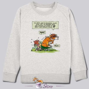 Sweat kid blanc : Caramel en brouette