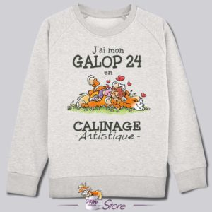 Sweat kid blanc : calin artistique