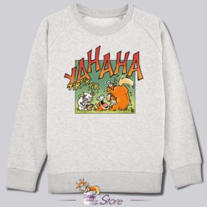 Sweat kid blanc : fou rire
