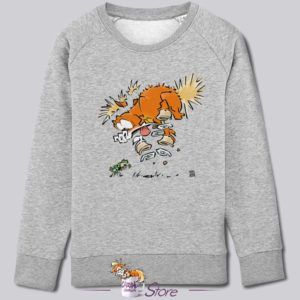 Sweat kid gris : peur de grenouille