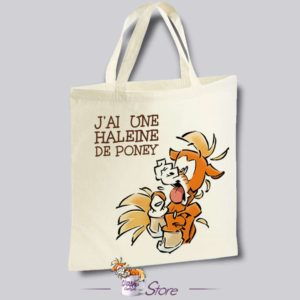 Tote bag humoristique : haleine de poney